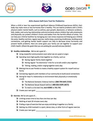 ACEs Self Care Tool